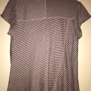 Anthropologie Tops - Anthro Postmark Striped Asymmetrical Top S